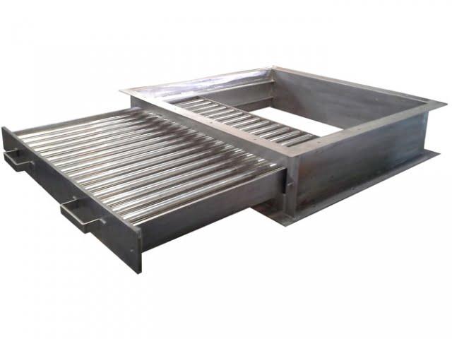 Grade magnética fixa de gaveta dupla e caixa de separação